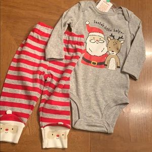 NWT Santa 2 piece outfit outfit size 6 months